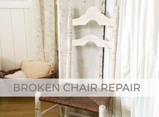 Repair that Broken Chair with this Video Tutorial by Larissa of Prodigal Pieces | prodigalpieces.com
