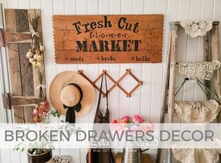 Broken Drawers Decor by Larissa of Prodigal Pieces | prodigalpieces.com