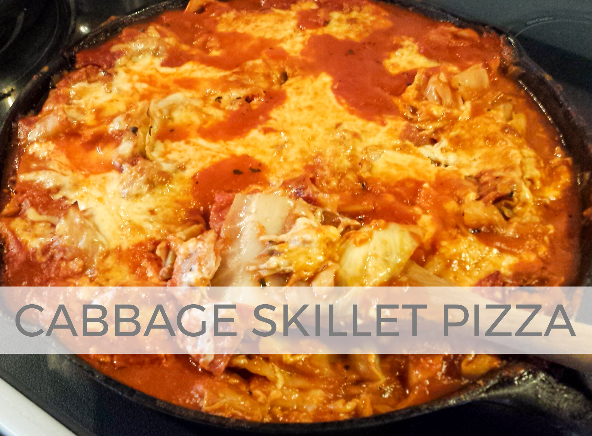 Cabbage Skillet Pizza Lasagna by Larissa of Prodigal Pieces | prodigalpieces.com