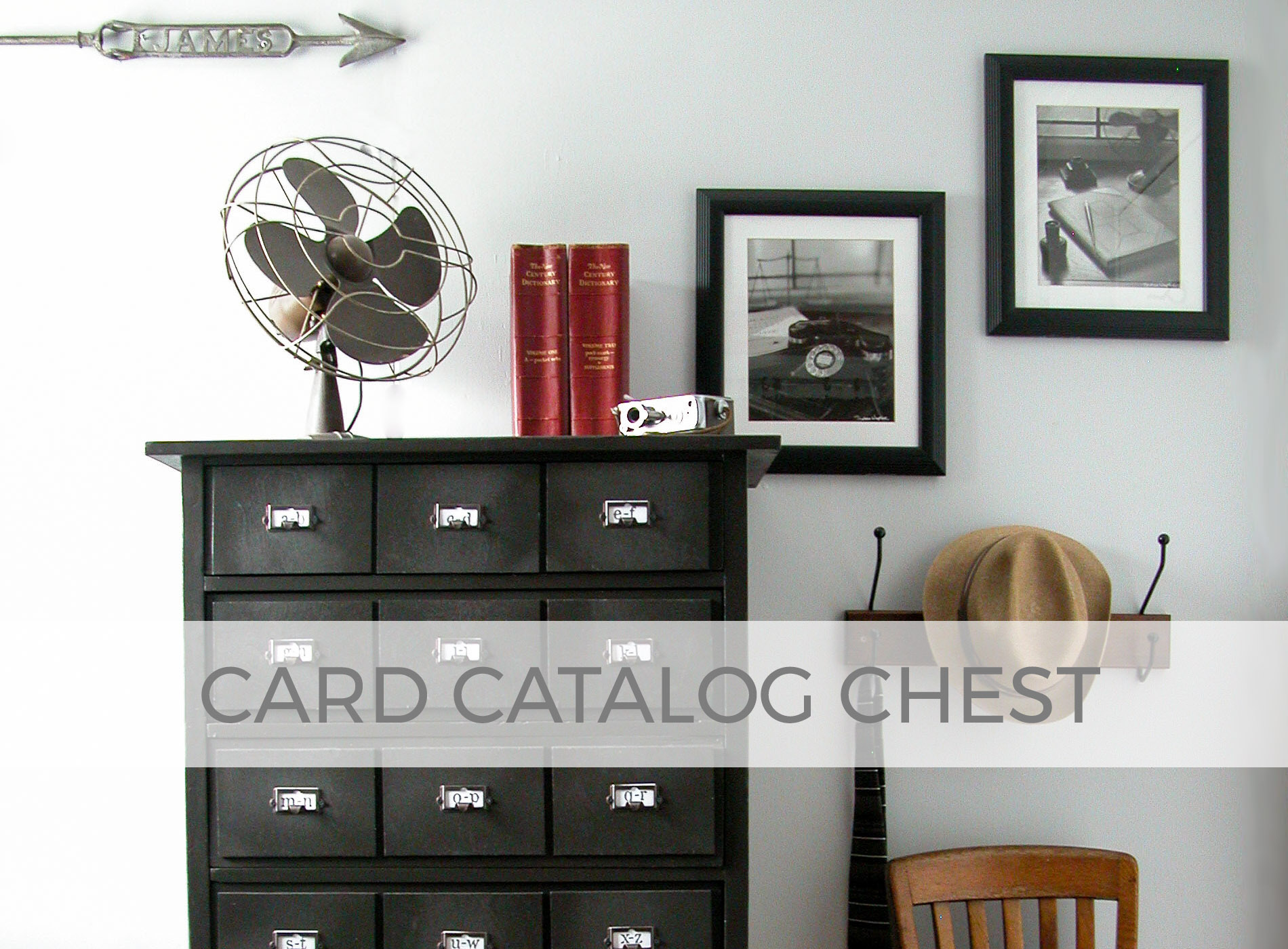 Upcycled Child's Chest of Drawers into Card Catalog Chest by Larissa of Prodigal Pieces | prodigalpieces.com #prodigalpieces
