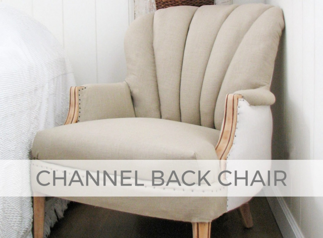 Channel Back Chair Upholstery by Larissa of Prodigal Pieces | prodigalpieces.com #prodigalpieces