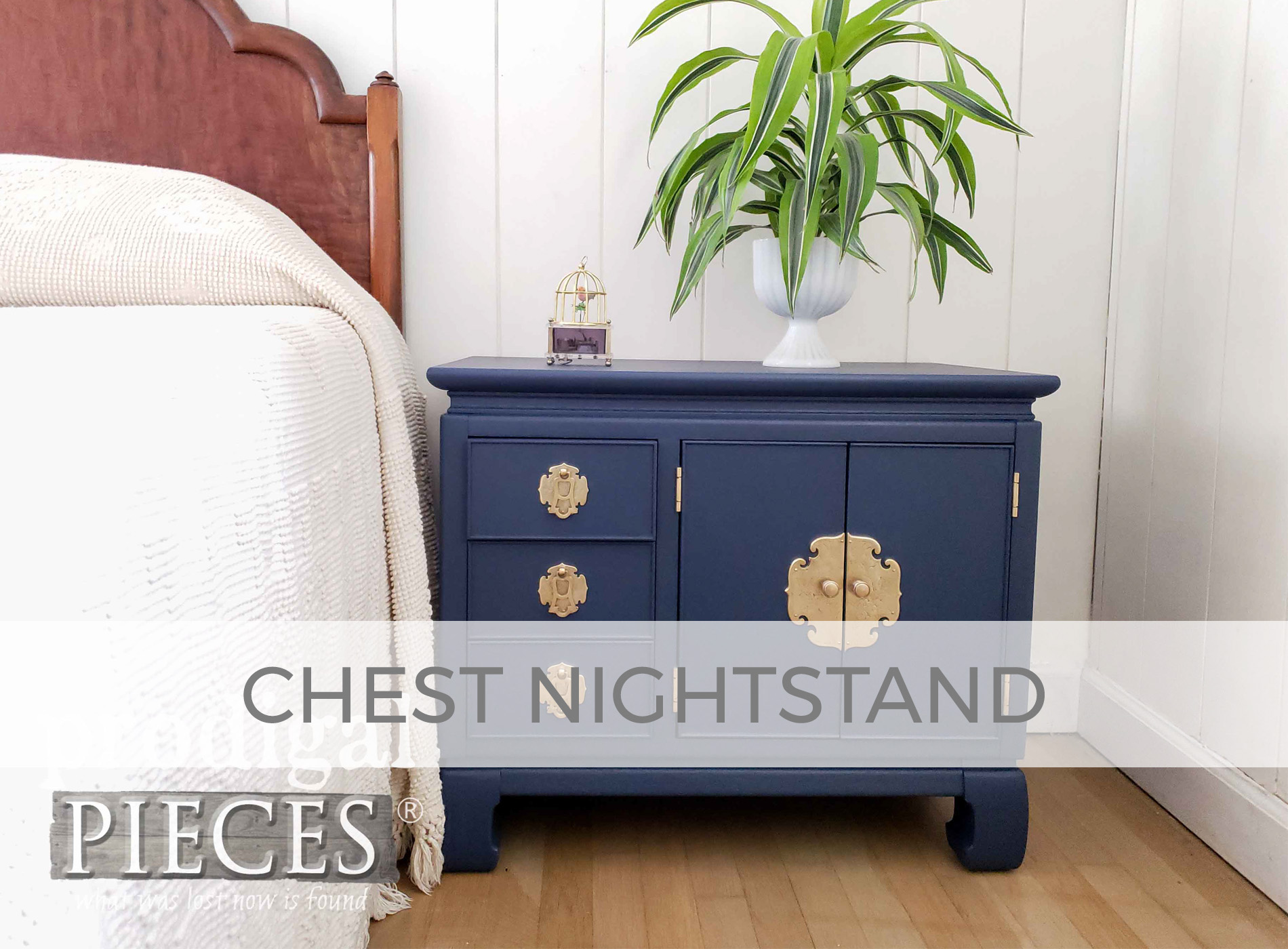 Vintage Chest Nightstand with Boho Style by Larissa of Prodigal Pieces | prodigalpieces.com #prodigalpieces