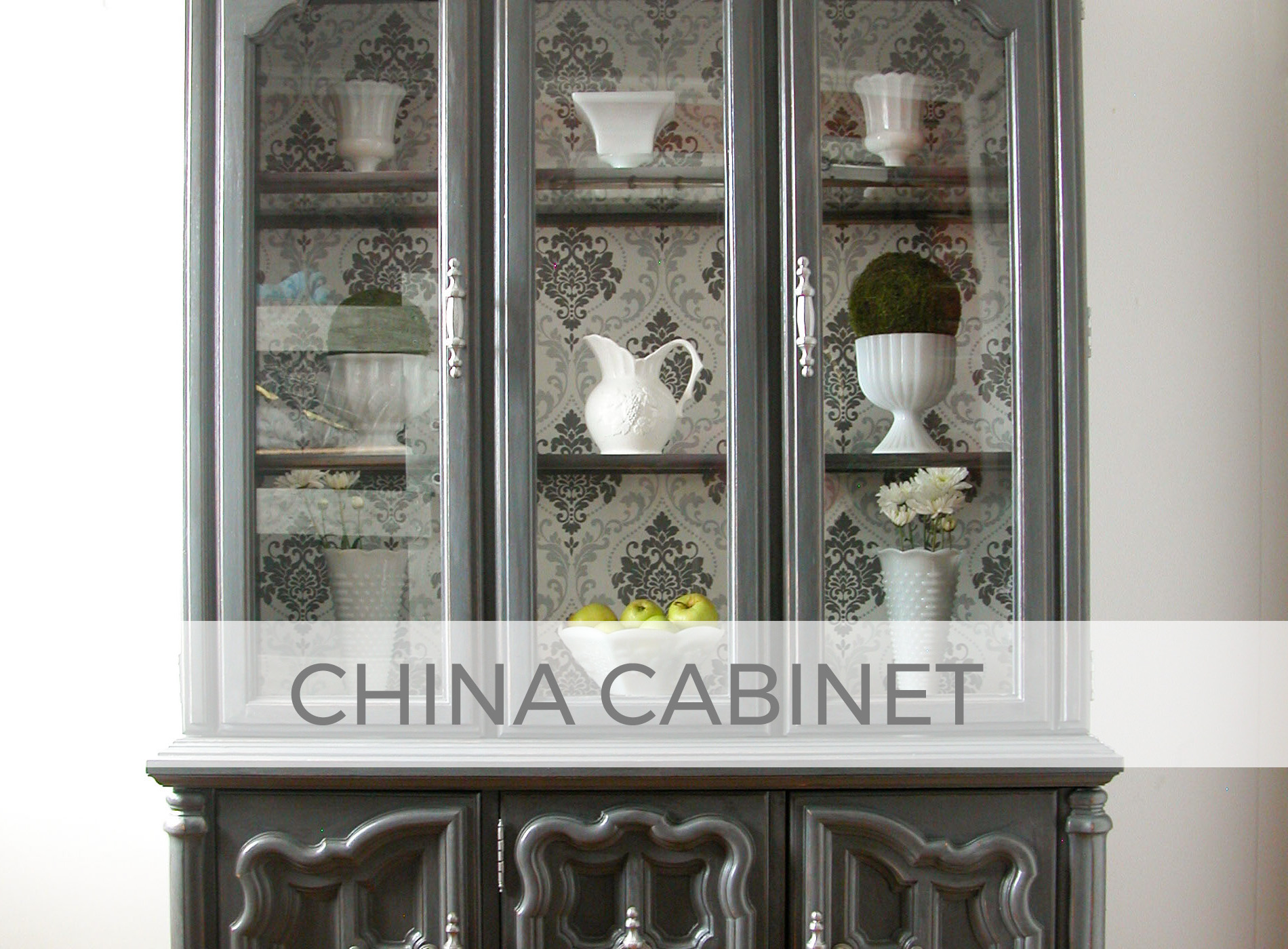 Vintage China Cabinet Makeover by Larissa of Prodigal Pieces | prodigalpieces.com #prodigalpieces