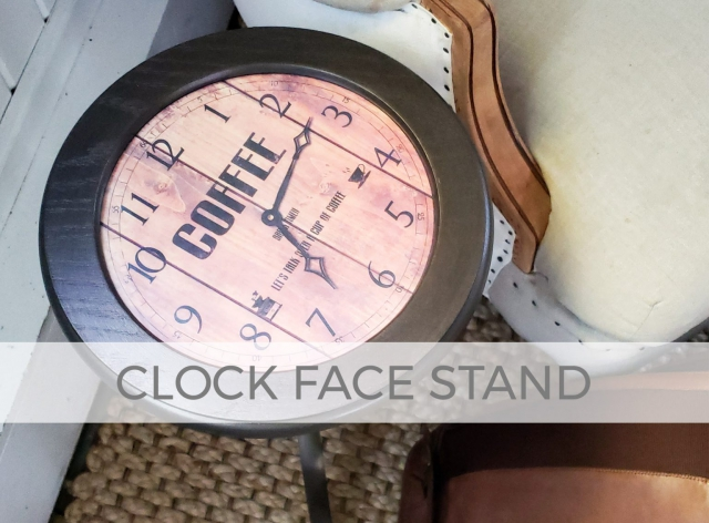 Clock Face Stand by Larissa of Prodigal Pieces | prodigalpieces.com