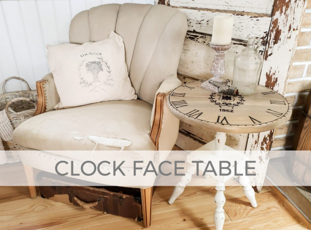 Upcycled Ash Tray Stand into Clock Face Table by Larissa of Prodigal Pieces | prodigalpieces.com