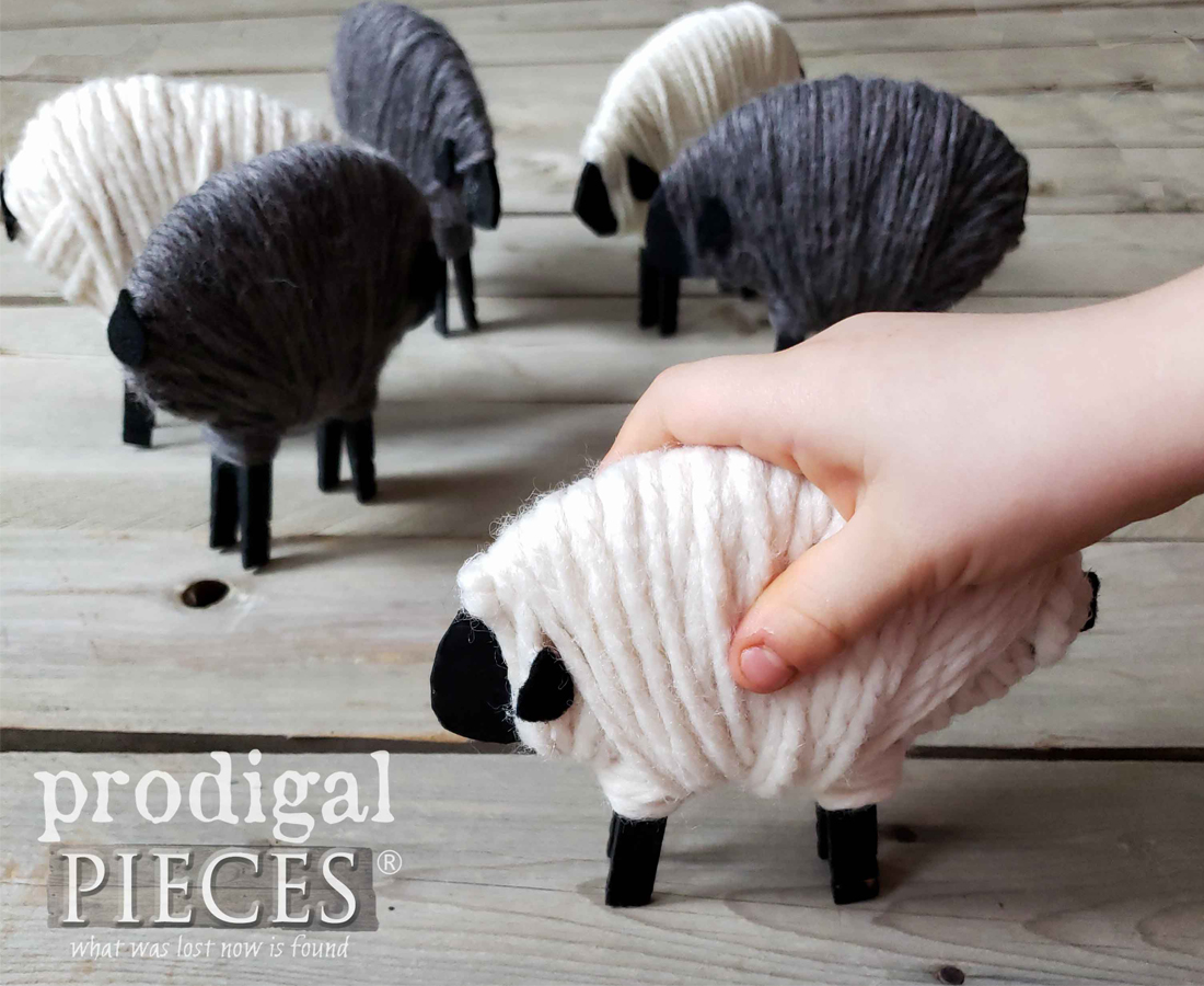 Adorable Clothespin Sheep Tutorial by Larissa of Prodigal Pieces | prodigalpieces.com