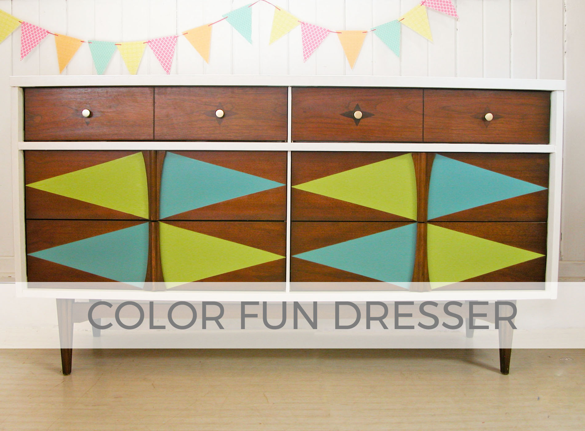 Color Fun Mid Century Modern Dresser by Larissa of Prodigal Pieces | prodigalpieces.com