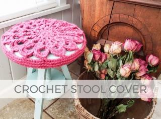 DIY Crochet Stool Cover by Larissa of Prodigal Pieces   prodigalpieces.com