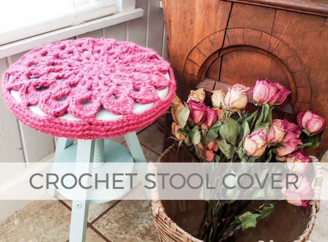 DIY Crochet Stool Cover by Larissa of Prodigal Pieces | prodigalpieces.com