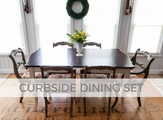 Vintage Dining Set found Curbside and Refinished by Larissa of Prodigal Pieces | prodigalpieces.com