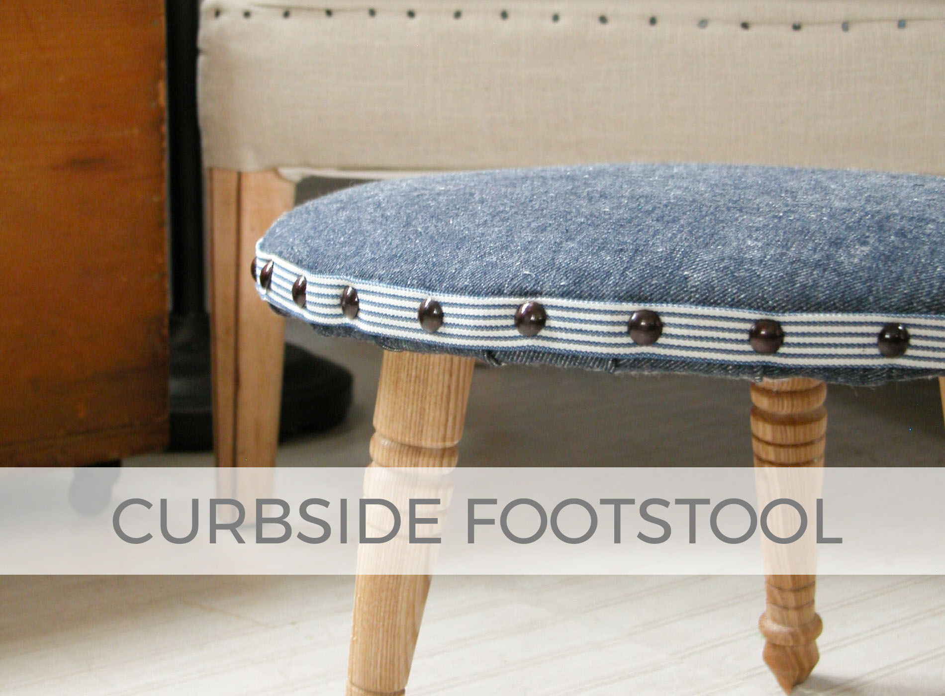 Vintage Footstool Found Curbside Made New by Prodigal Pieces | prodigalpieces.com