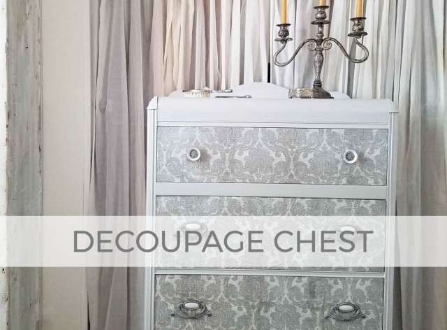 Decoupaged Art Deco Chest of Drawers by Larissa of Prodigal Pieces | prodigalpieces.com