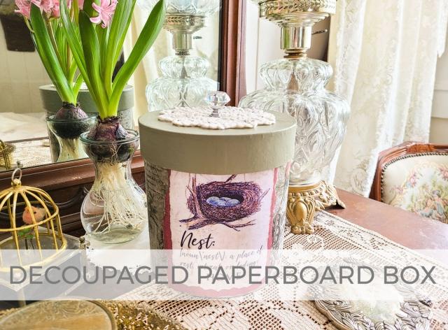 DIY Decoupaged Paperboard Box Tutorial by Larissa of Prodigal Pieces | prodigalpieces.com #prodigalpieces