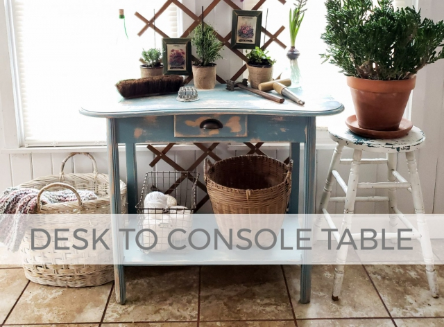 Upcycled Desk to Console Table by Larissa of Prodigal Pieces | prodigalpieces.com