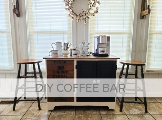 DIY Coffee Bar for Modern Farmhouse Style by Larissa of Prodigal Pieces | prodigalpieces.com #prodigalpieces