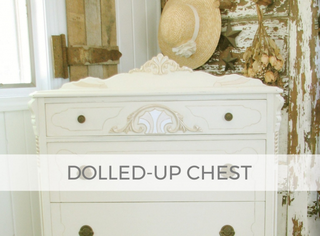 Antique Chest of Drawers all dolled-up by Larissa of Prodigal Pieces | prodigalpieces.com #prodigalpieces