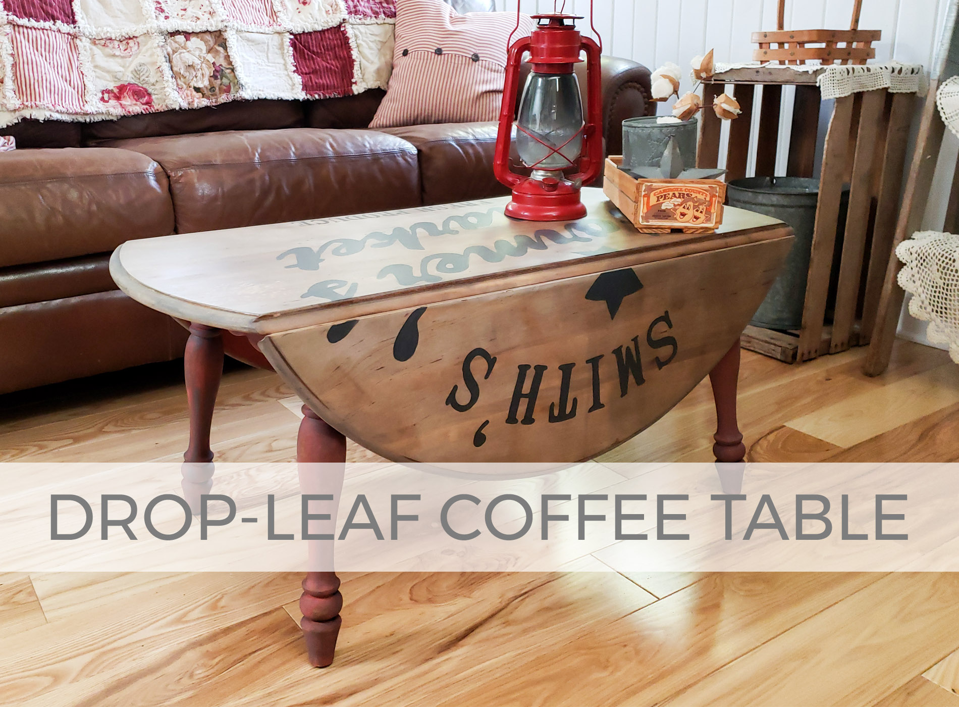 Drop-Leaf Coffee Table by Larissa of Prodigal Pieces | prodigalpieces.com #prodigalpieces