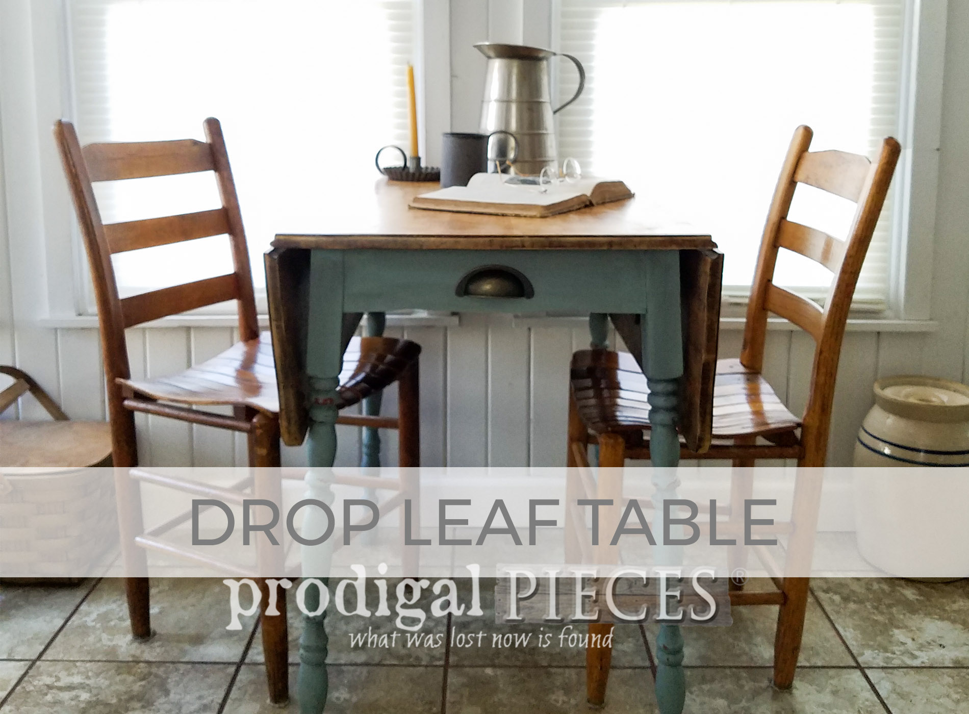 Vintage Drop Leaf Table by Larissa of Prodigal Pieces | prodigalpieces.com