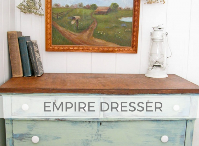 Empire Dresser with Damaged Veneer by Larissa of Prodigal Pieces