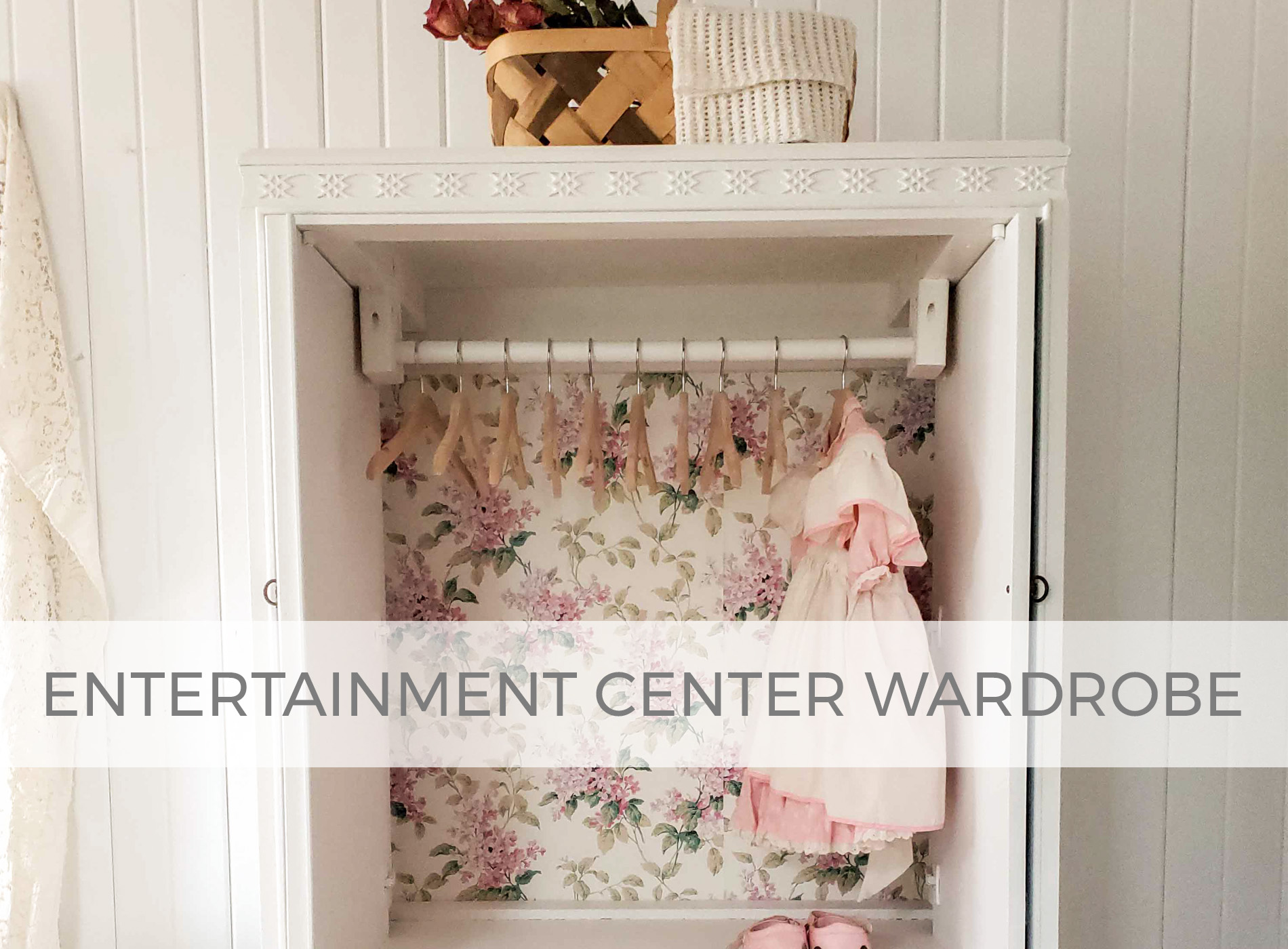 Entertainment Center Upcycled into Wardrobe by Larissa of Prodigal Pieces | prodigalpieces.com