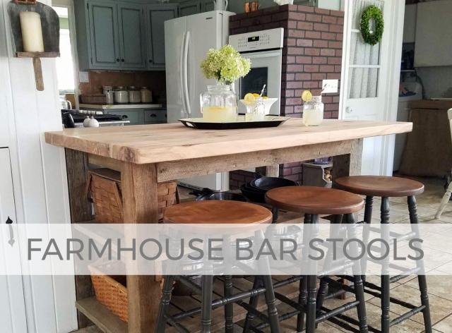 Farmhouse Bar Stools by Prodigal Pieces | prodigalpieces.com