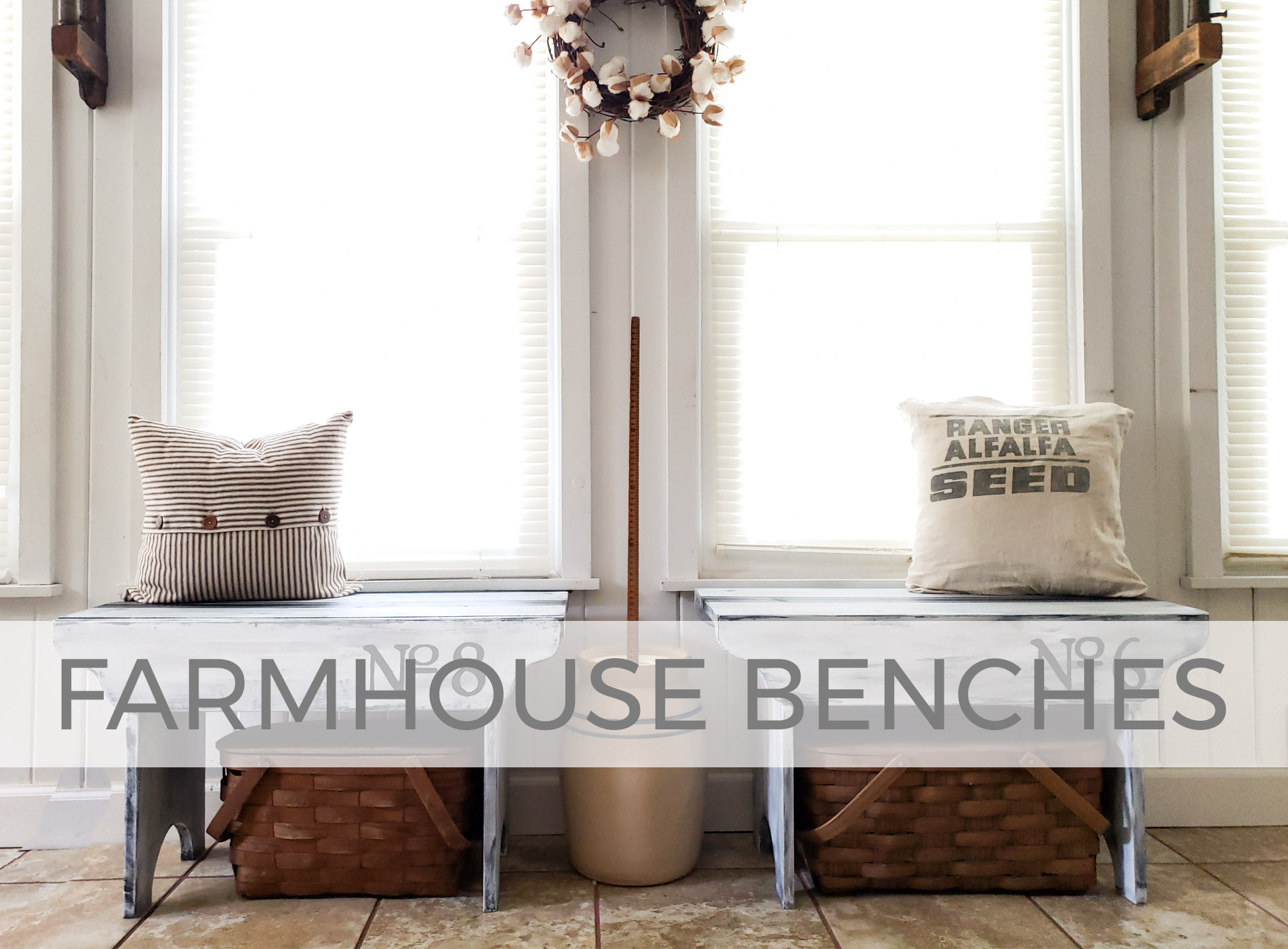 Thrifted Farmhouse Benches by Larissa of Prodigal Pieces | prodigalpieces.com