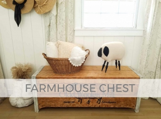 Farmhouse Blanket Chest with Woolen Mill Typography by Larissa of Prodigal Pieces | prodigalpieces.com #prodigalpieces