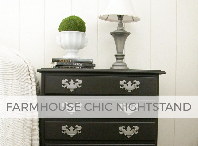 Farmhouse Chic Nightstand by Larissa of Prodigal Pieces | prodigalpieces.com
