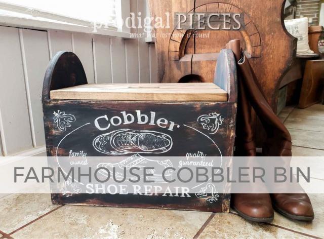 Farmhouse Cobbler Bin by Larissa of Prodigal Pieces | prodigalpieces.com