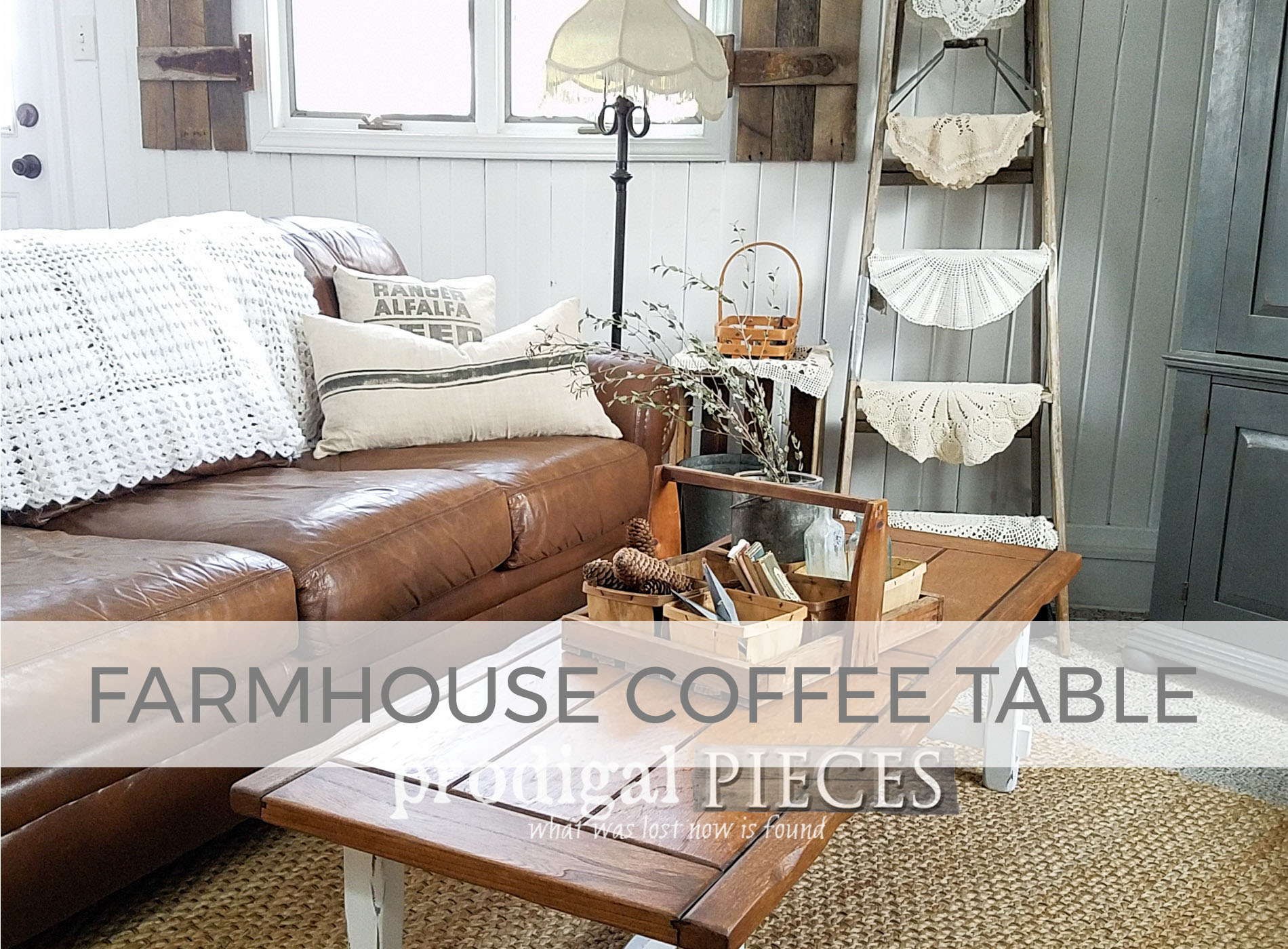 Farmhouse Coffee Table by Larissa of Prodigal Pieces | prodigalpieces.com
