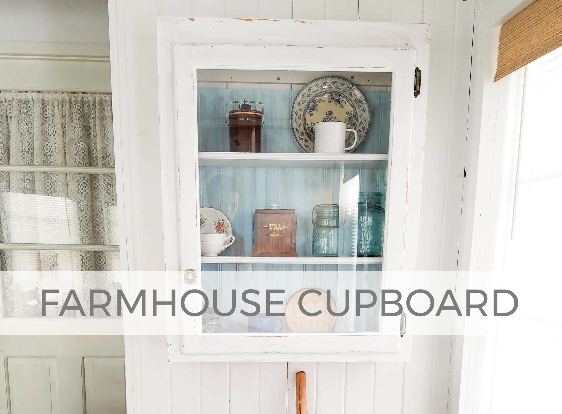 Farmhouse Cupboard Updated by Larissa of Prodigal Pieces | prodigalpieces.com
