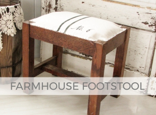 Rustic Farmhouse Footstool by Larissa of Prodigal Pieces | prodigalpieces.com