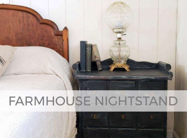 Farmhouse Nightstand by Larissa of Prodigal Pieces | prodigalpieces.com