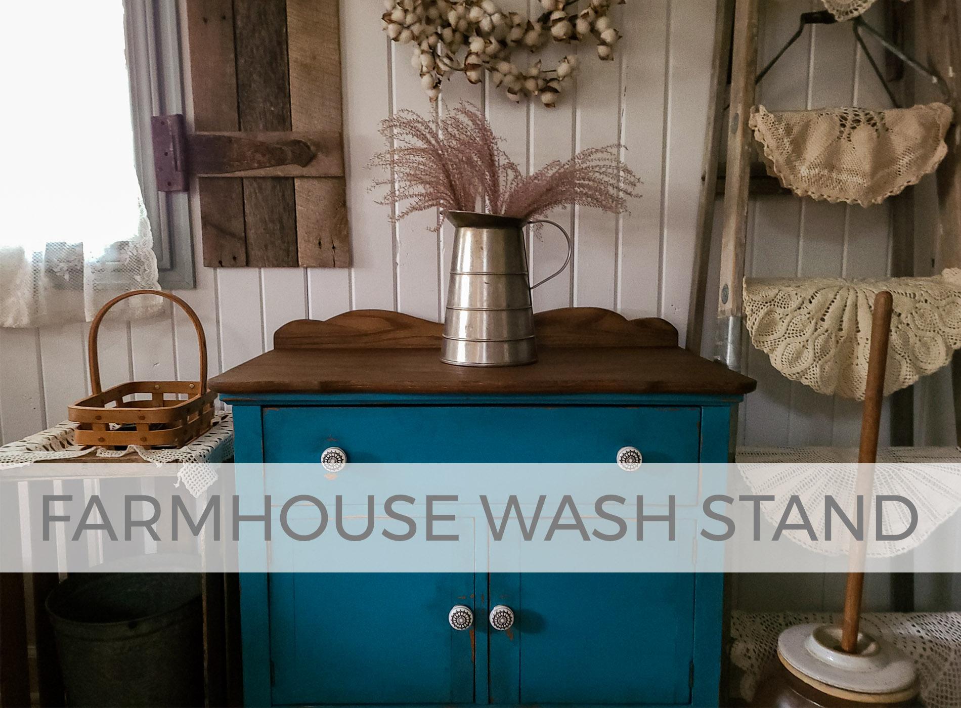 Antique Farmhouse Wash Stand by Larissa of Prodigal Pieces | prodigalpieces.com