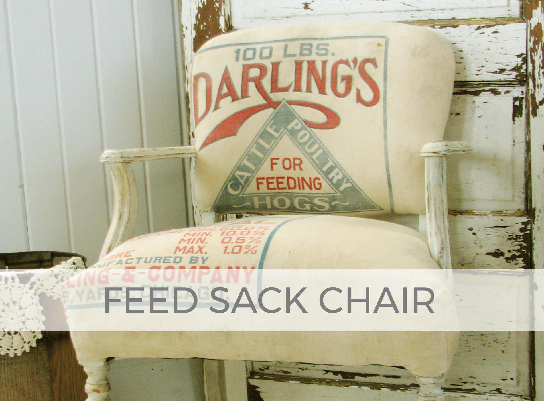 Farmhouse Feed Sack Chair by Larissa of Prodigal Pieces | prodigalpieces.com #prodigalpieces
