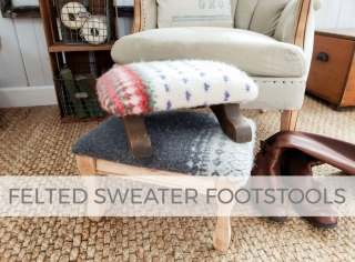 DIY Felted Sweater Footstool Video Tutorial by Larissa of Prodigal Pieces | prodigalpieces.com