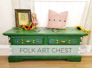Vintage Folk Art Chest by Larissa of Prodigal Pieces | prodigalpieces.com #prodigalpieces