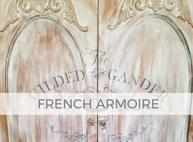 Entertainment Center by French Armoire by Larissa of Prodigal Pieces | prodigalpieces.com