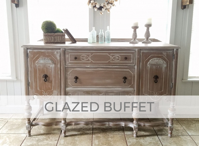 Antique Buffet with Glazed Finish by Larissa of Prodigal Pieces | prodigalpieces.com
