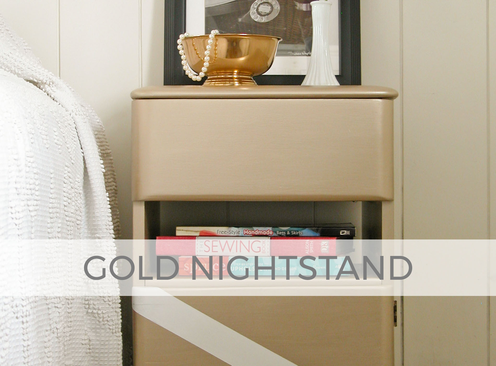 Vintage Art Deco Gold Nightstand by Prodigal Pieces | prodigalpieces.com