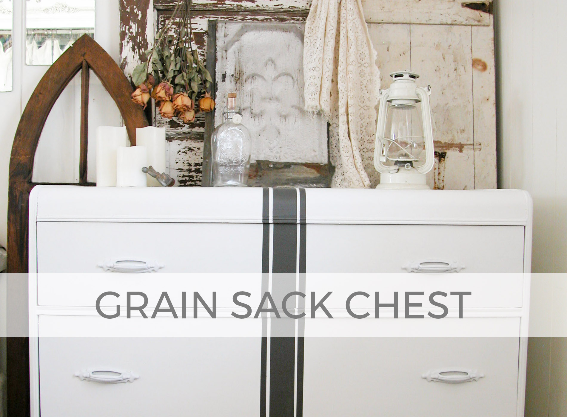 Grain Sack Chest by Larissa of Prodigal Pieces | prodigalpieces.com #prodigalpieces