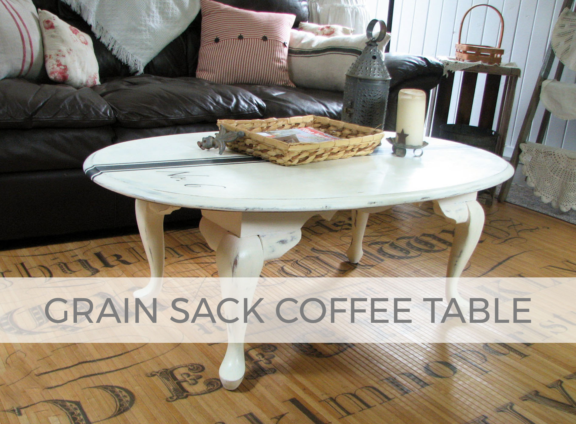 Grain Sack Coffee Table by Larissa of Prodigal Pieces | prodigalpieces.com