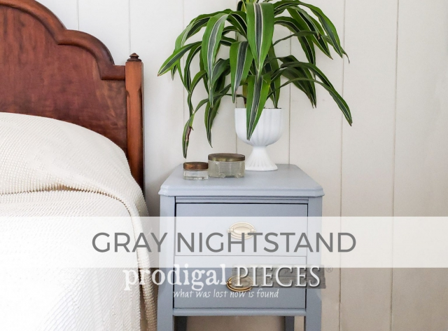 Vintage Nightstand in Gray by Larissa of Prodigal Pieces | prodigalpieces.com