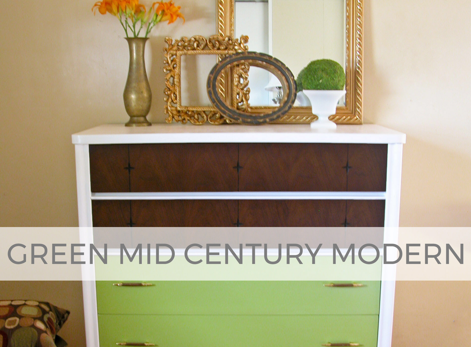Mid Century Modern Chest Makeover in Green by Larissa of Prodigal Pieces | prodigalpieces.com #prodigalpieces