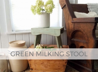 Green Milking Stool by Prodigal Pieces | prodigalpieces.com