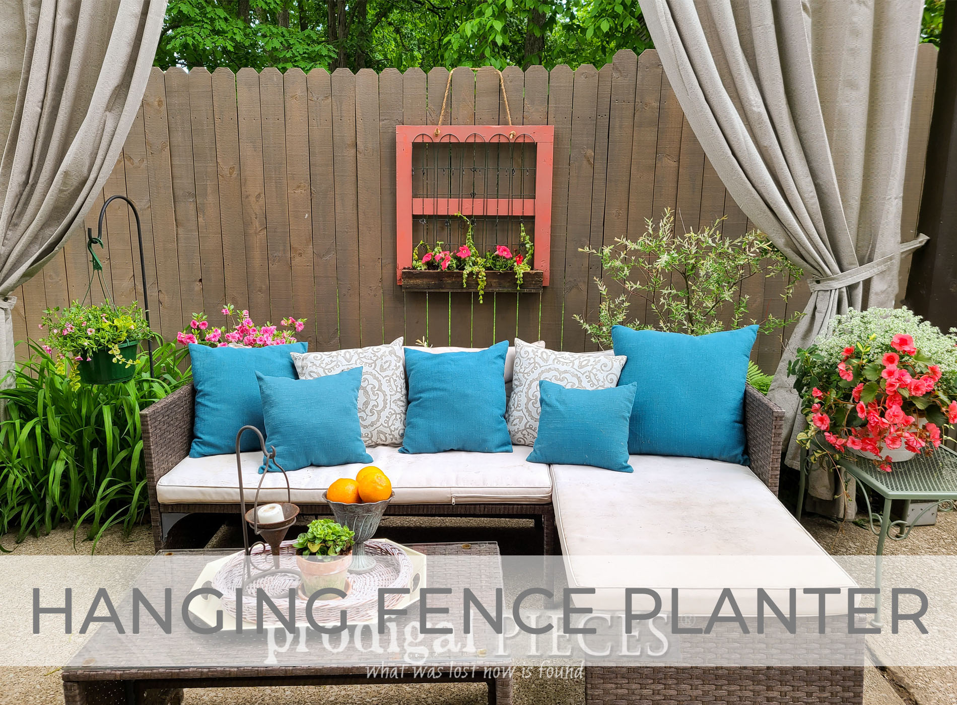 Hanging Fence Planter from Reclaimed Wood by Larissa of Prodigal Pieces | prodigalpieces.com #prodigalpieces