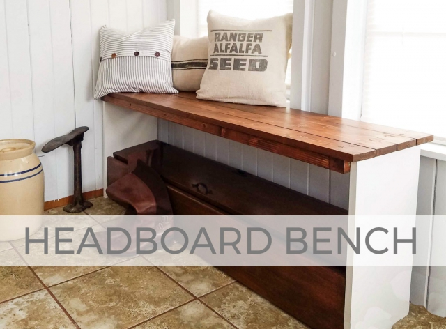 Bookcase Headboard Bench by Larissa of Prodigal Pieces | prodigalpieces.com
