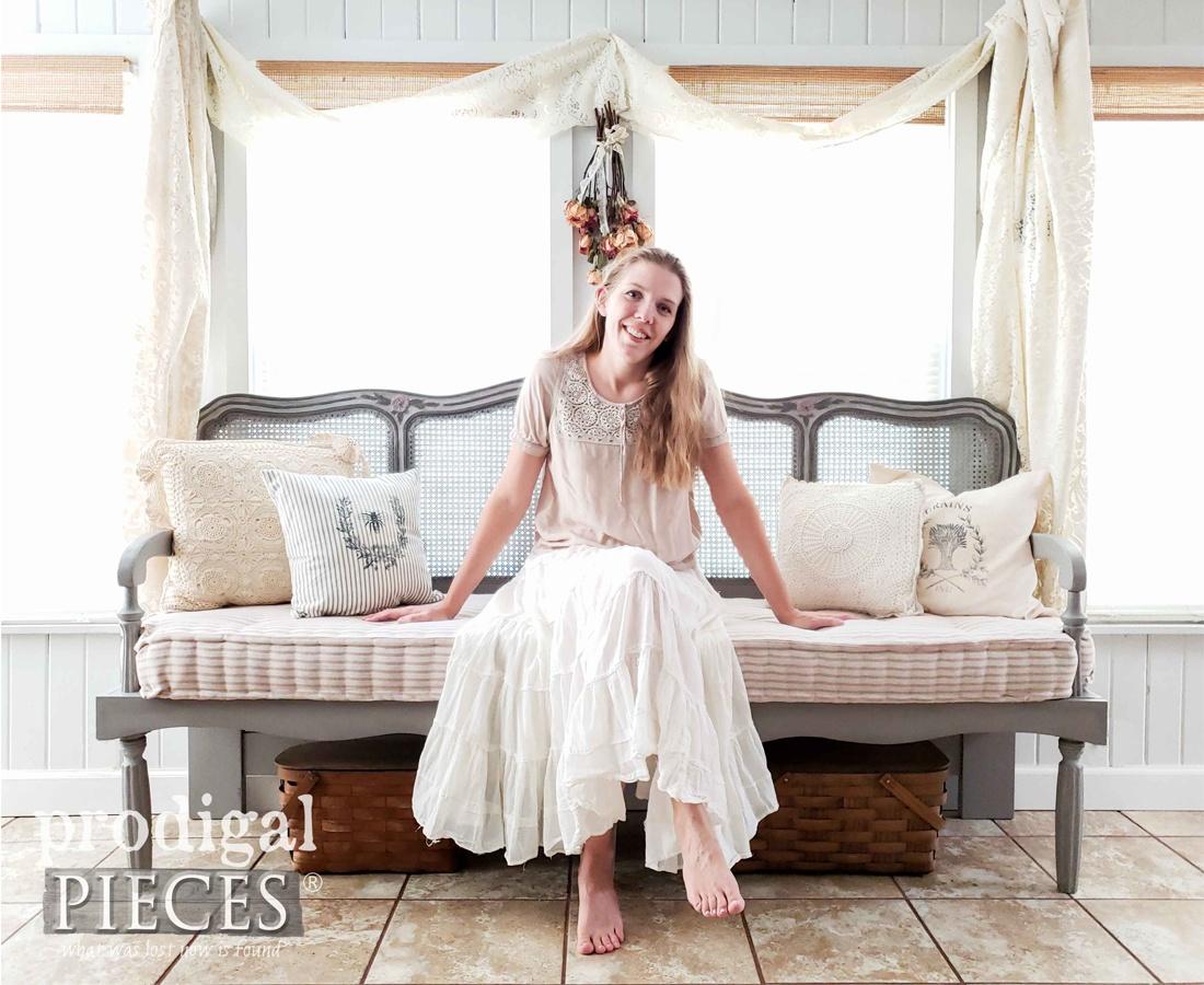 DIY Headboard Bench by Larissa of Prodigal Pieces   prodigalpieces.com