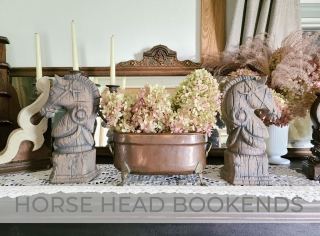 Vintage Horse Head Bookends Makeover by Larissa of Prodigal Pieces   prodigalpieces.com