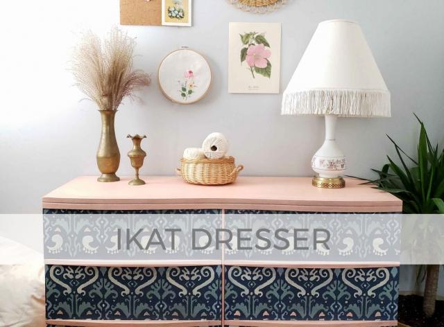 Stenciled Ikat Dresser by Larissa of Prodigal Pieces | prodigalpieces.com